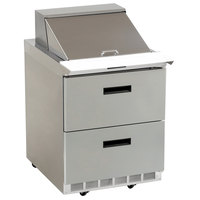 Delfield D4432N-12M 32 inch 2 Drawer Mega Top Refrigerated Sandwich Prep Table