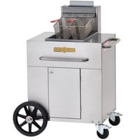 Crown Verity PF-1-LP 35 - 40 lb. Single Tank Portable Outdoor Fryer