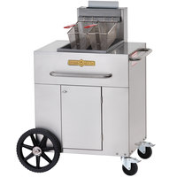 Crown Verity PF-1 35 - 40 lb. Single Tank Portable Outdoor Fryer