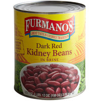 Furmano's #10 Can Dark Red Kidney Beans in Brine - 6/Case