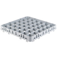 Cambro 36E5151 Soft Gray 36 Compartment Full Size Half Drop Camrack Stemware Extender