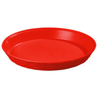 Carlisle 652605 WeaveWear Red Round Plastic Serving Basket 12 inch - 12/Case