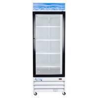 Avantco GDC23 28 inch Swing Glass Door White Merchandiser Refrigerator