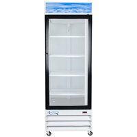 Avantco GDC-23 28 inch White Swing Glass Door Merchandiser Refrigerator with LED Lighting