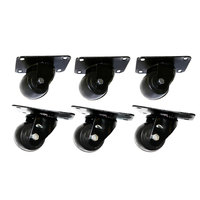 True 881348 2 1/2 inch Swivel Plate Casters - 6/Set
