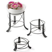 Tablecraft BKRR3 3 Piece Round Black Metal Riser