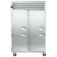 Traulsen G20005P 2 Section Solid Half Door Pass-Through Refrigerator - Left / Left Hinged Doors