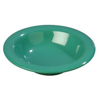Carlisle 4304009 Durus 6 oz. Meadow Green Rimmed Melamine Bowl - 48/Case