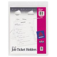 Avery 75009 9 inch x 12 inch Clear Heavy Gauge Vinyl Job Ticket Holder - 10/Pack
