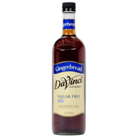 DaVinci Gourmet 750 mL Gingerbread Sugar Free Coffee Flavoring Syrup