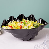 5 Qt. Black Shell Shaped Plastic Bowl 19 inch x 12 7/8 inch