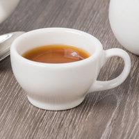 Syracuse China 950093116 Flint Alatta 3 oz. Ivory (American White) Porcelain Coffee Cup - 36/Case
