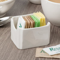 Syracuse China 911198014 Flint 3 1/2 inch x 2 7/8 inch Ivory (American White) Porcelain Condiment Holder - 24/Case