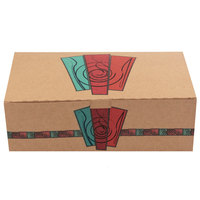 9 inch x 5 inch x 3 inch Take Out Lunch / Snack / Chicken Box with Harvest Design - 250/Case