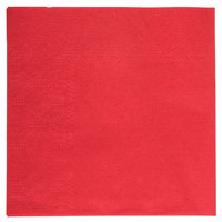 Hoffmaster 180311 Red Beverage / Cocktail Napkin - 250 / Pack