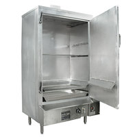 Town SM-30-R-SS Natural Gas Indoor 30 inch Stainless Steel Smokehouse with Right Door Hinges - 60,000 BTU