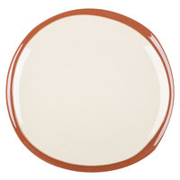 Syracuse China 922222358 Terracotta 12 inch Pine Tan Plate - 12/Case