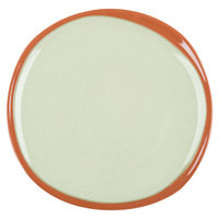 Syracuse China 922224350 Terracotta 6 3/8 inch Fern Green Plate - 12/Case