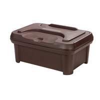 Carlisle XT180001 Cateraide Slide 'N Seal 8 inch Brown Insulated Food Pan Carrier and Sliding Lid Set