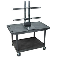 Luxor LE27WTUD Flat Panel TV Cart with 2 Shelves for Up to 50 inch Screens