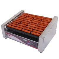 APW Wyott HRDi-50 120 X*PERT Digital Hotrod 50 Hot Dog Roller Grill 30 1/2 inch Flat Top - 120V