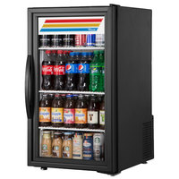 True GDM-06-B-HC~TSL01 Black Countertop Display Refrigerator with Swing Door