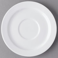 Syracuse China 911196017 Repetition 5 7/8 inch Aluma White Porcelain Stacking Saucer - 36/Case