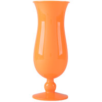 GET HUR-1-OR Cheers 15 oz. Orange Plastic Hurricane Glass - 24/Case