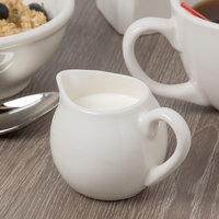 Syracuse China 911198034 Flint 5 oz. Ivory (American White) Porcelain Creamer - 24/Case