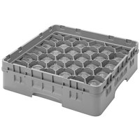 Cambro 30S800151 Soft Gray Camrack Customizable 30 Compartment 8 1/2 inch Glass Rack