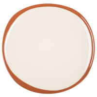 Syracuse China 922222352 Terracotta 10 3/4 inch Pine Tan Plate - 12/Case