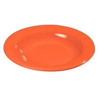 Carlisle 4303452 Durus 13 oz. Sunset Orange Melamine Bowl - 24/Case