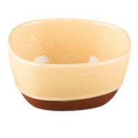 Syracuse China 922226356 Terracotta 9.5 oz. Mustard Seed Yellow Bouillon Cup - 36/Case