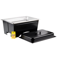 Sterno Products Full Size ChalkBoard Fold-Away WindGuard Chafer with Black Matte Finish, Full Size Pan, and Lid