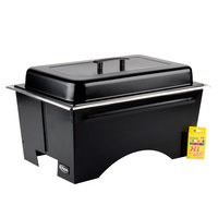 Sterno Full Size ChalkBoard Fold-Away WindGuard Chafer with Black Matte Finish, Full Size Pan, and Lid