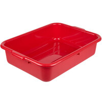 Tablecraft 1529R 21 1/4 inch x 15 3/4 inch x 5 inch Red Polyethylene Plastic Bus Tub, Bus Box