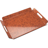 Cal-Mil 958-2-19 16 inch x 13 inch Burl Room Service Tray