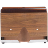 Vollrath 3815-12 Straw Boss Single Sided Wrapped Straw Dispenser - Dark Walnut Woodgrain