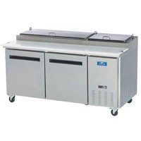 Arctic Air APP71R 71 inch Two Door Pizza Prep Refrigerator Table