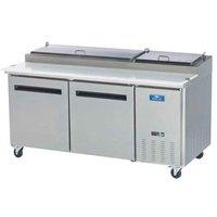 Arctic Air APP71R 71 inch Two Door Pizza Prep Refrigerator Table