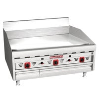 MagiKitch'n MKG-24-ST-NAT 24 inch Natural Gas Countertop Griddle with Solid State Thermostatic Controls - 60,000 BTU