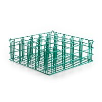 25 Compartment Catering Glassware Basket - 3 1/2 inch x 3 1/2 inch x 6 1/2 inch Compartments