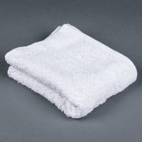 Lavex Lodging Hotel Hand Towel - 15 inch x 27 inch 100% Open End Cotton 3.5 lb. - 12 / Pack