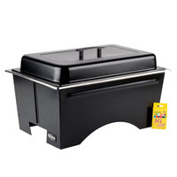Sterno Full Size ChalkBoard Fold-Away WindGuard Chafer with Black Matte Finish, Two 1/2 Size Pans, and Lid