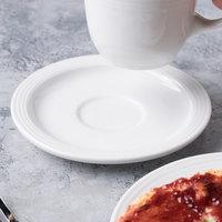 Syracuse China 911196021 Repetition 5 5/8 inch Aluma White Porcelain Tea Saucer - 36/Case