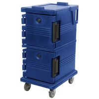 Cambro UPC600186 Navy Blue Camcart Ultra Pan Carrier - Front Load