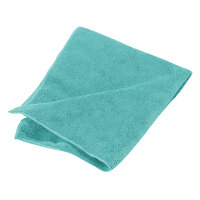 Carlisle 3633409 16 inch x 16 inch Green Terry Microfiber Cleaning Cloth
