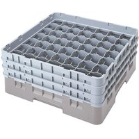 Cambro 49S1114151 Soft Gray Camrack 49 Compartment 11 3/4 inch Glass Rack