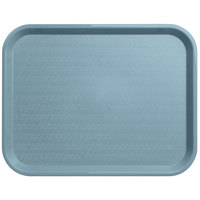 Carlisle CT141859 Customizable Cafe 14 inch x 18 inch Slate Blue Standard Plastic Fast Food Tray - 12/Case