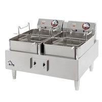 Star Max 530TEF 30 lb. Commercial Countertop Deep Fryer Twin Pots 208/240V